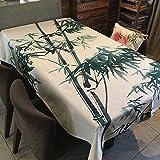 BUUYI Manteles Mesas de comedor Decoración Bamboo 140x220 cm Boda hotel restaurante Moderno sencillo