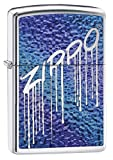 Zippo 60.002.234Briquet Fuzion Liquid Logo Collection Spring, High Polished Chrome