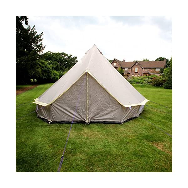 Boutique Camping 4m Lightweight Zipped In Ground Sheet Bell Tent 4