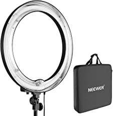 """Neewer Camera Photo/Video 18""""Outer 14""""Inner 600W 5500K Ring Fluorescent Flash Light (Light Only)"""