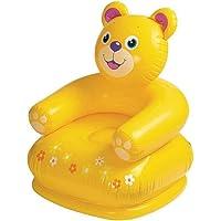 Enorme™ Teddy Bear Shape PVC Inflatable Plastic Animal Chair / Sofa for Kids ( Yellow )