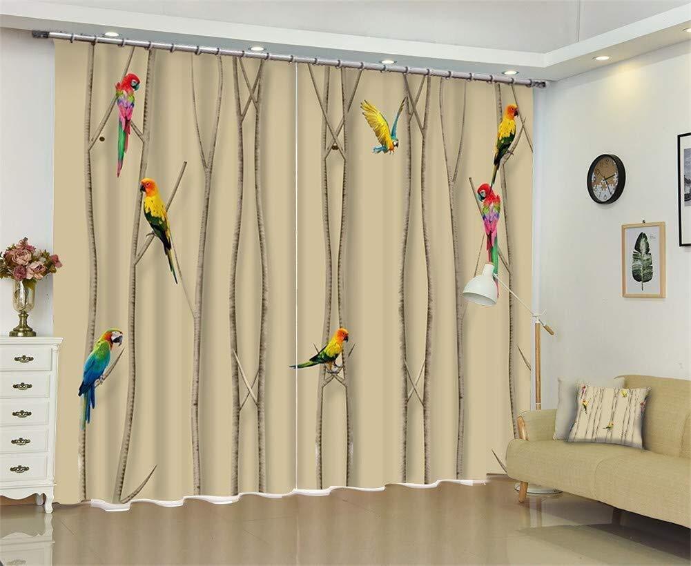 Yikuo Idea di personalità Stile Classico Design di Uccelli Tenda for  Finestra 3D for Soggiorno Riduzione del Rumore Tende Oscuranti con  Isolamento ...