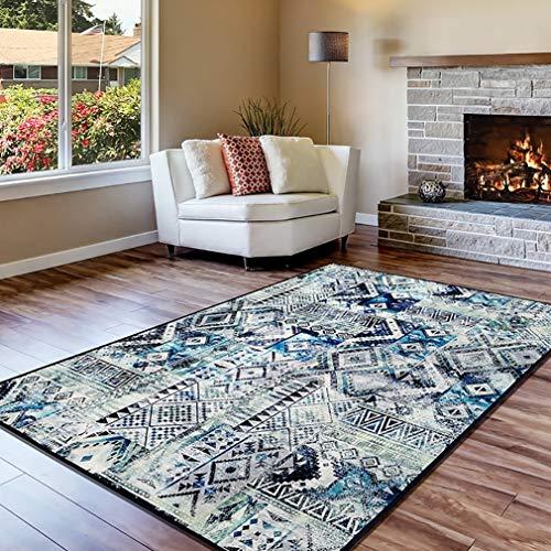 GJIF Türkischer Retro Teppich Rechteckiger Rutschfester Teppich Geeignet für Wohnzimmer Schlafzimmer - 0.4cm (Farbe : #001, größe : 160x230cm)