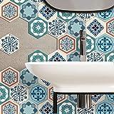Zcxbhd 6 Stück Marokko Stil Bad Fliesenaufkleber Küchenfliese Abziehbilder Selbst Klebstoff Wandkunst 6 Seitentyp 20 * 23 cm (Farbe : B)
