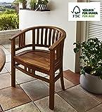 SAM Garten-Sessel Karlebo, Sessel aus Akazien-Holz, Stuhl für Balkon Terrasse, Gartenmöbel, FSC 100% Zertifiziert