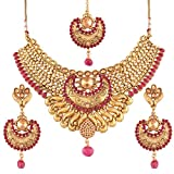 I Jewels Choker Style Gold Plated Jewellery Set for Women (M4070Q)