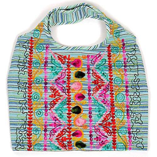 HAB & GUT (IB00V) diversi disegni e colori, Borsa donna indiana, 100 % cotone, borse a tracolla colorate LEELA