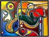 ORIGINAL Kunstwerk Gemälde/ 120 x 90 cm/ Malerei/ Acrylbild/ Abstrakte Kunst/ Zeitgenösische Kunst/ Moderne Kunst/ Figurativ/ Bilder/ Deko/ Wanddeko