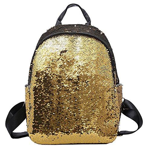 TEBAISE Sequin Rucksack Fashion Shiny Bling Glitzer Sequins Rucksack Casual Outdoor Sport Wandern Daypack für Mädchen Frauen Karneval Fasching Damen Schulranzen Tagesrucksack Glitzer Pailletten