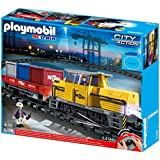 Playmobil - 5258 - Jeu de Construction - Train Porte-Conteneurs Radio-Commandé