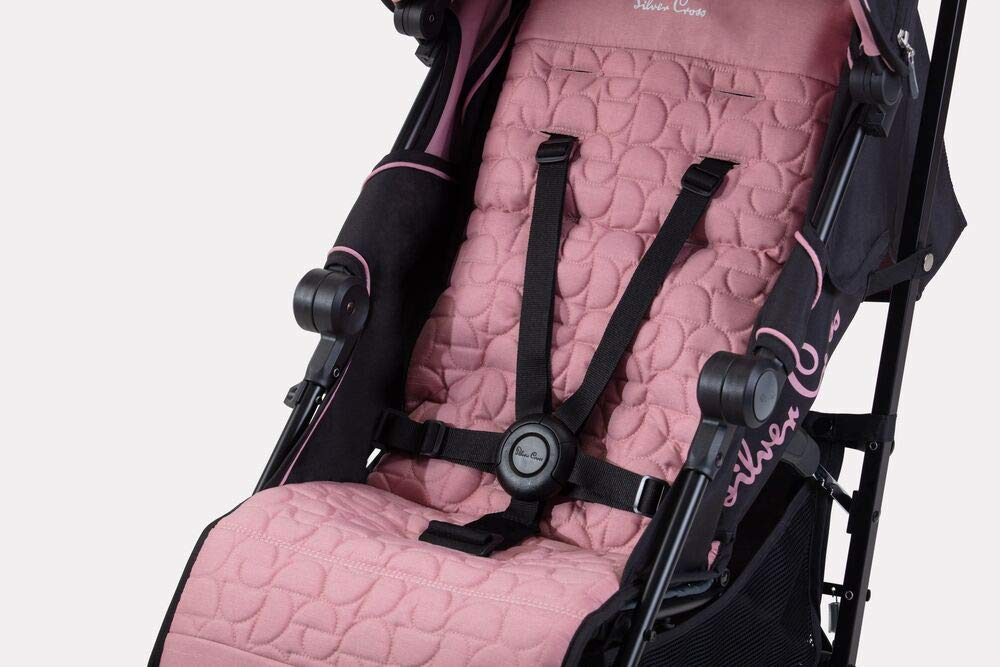 Silver Cross Zest Powder Pink Silver Cross Ultra lightweight zest pushchair, weighing in at only 5.8kg, is suitable from birth up to 25kg It has a convenient one-hand fold, while the compact design makes it easy to store The fully lie-flat recline is best in its class 6