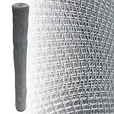 5 Meter Fliegengitter 18x16 mm Aluminium Alu Gewebe Lichtschacht Draht Fliegengitter Gaze Mücken Gitter silberfarben (100 cm)