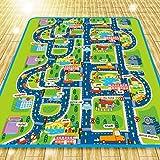 Houda–Tapis de jeu pour enfants, motif voitures