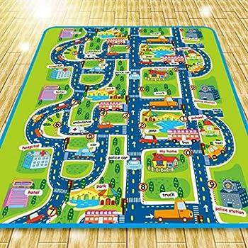 houda kids play car rug community carpet mat regular 130x160cm