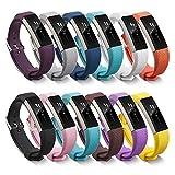 Pinhen - Cinturino in silicone per Fitbit Alta, protezione unica e totale per Smart Watch da polso per il fitness Fitbit Alta, parte di ricambio, 11PCS Set