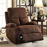 Furny Elisse Single Seater Recliner (Brown)