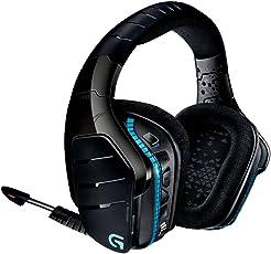 Logitech G933 Cuffia Wireless con Microfono per PC/Xbox One/PS4, Audio Surround 7.1, Nero
