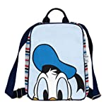 EcoRight Disney Donald Canvas Kids Backpack for School, College with Zipper & Inner Pocket (Free Bookmark) - Blue