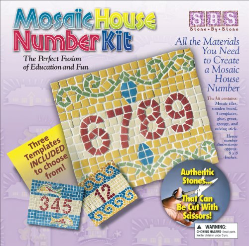 "Mosaic House Number Kit-8""X8"""