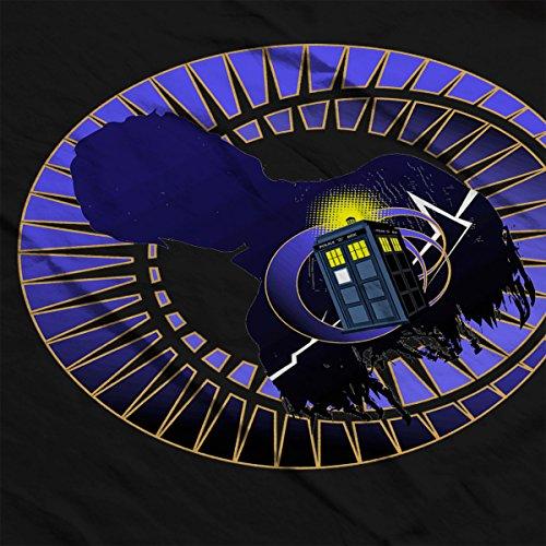 Eleventh Doctor Who Tardis Vortex Men's Vest Black