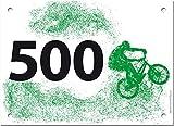 500 Startnummern BMX, Papier classic-race, Format 20 x 14,5 cm (ca. DIN A5), nummeriert von Nummer 1