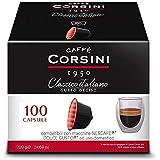 Caffè Corsini Classico Italiano Gusto Deciso Café Nespresso Capsules 100 Unités - 700g