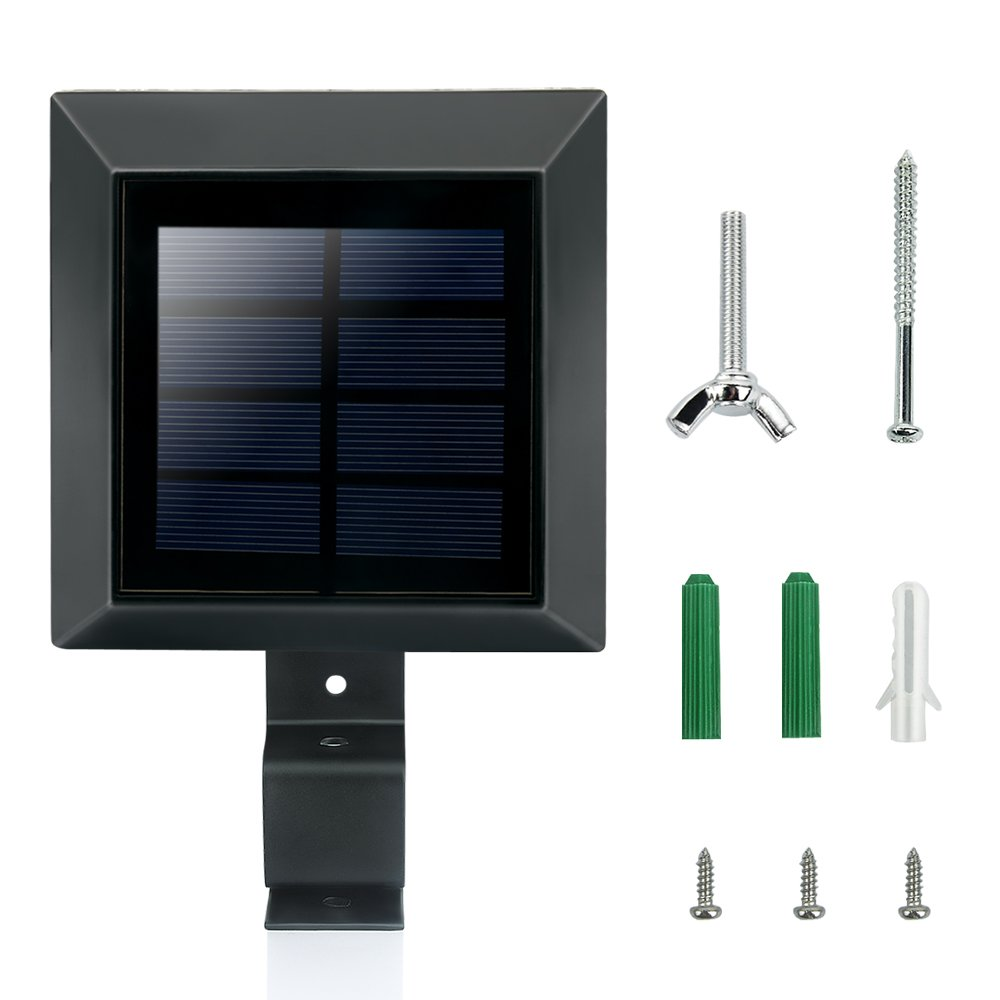 4 x solarlampe 6leds dachrinnen solarleuchten wandleuchte. Black Bedroom Furniture Sets. Home Design Ideas