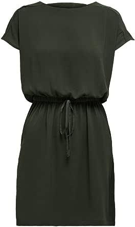 Only Onlmariana Myrina S/S DET Dress Noos Wvn Vestito Casual Donna