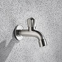 Lingyun Robinet- Acier inoxydable 304 Mop Faucet Piscine Simple Chambre froide dehors de la longue Nets Into The Thickening Faucet mur Balcon