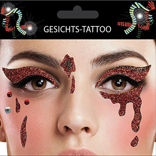 Gesicht Tattoo Face Art Halloween Karneval Träne