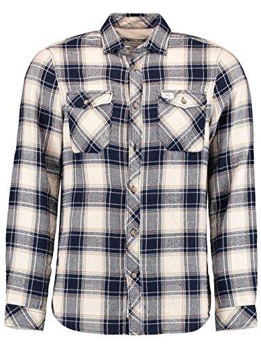 Herren Hemd lang O'Neill Violator Flannel Shirt LS white aop