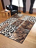 Trend Leopard Tiger Design Rug. Available in 8 Sizes (120cm x 170cm)
