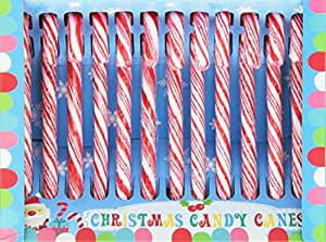 Hdiuk Traditional American Peppermint Candy Canes