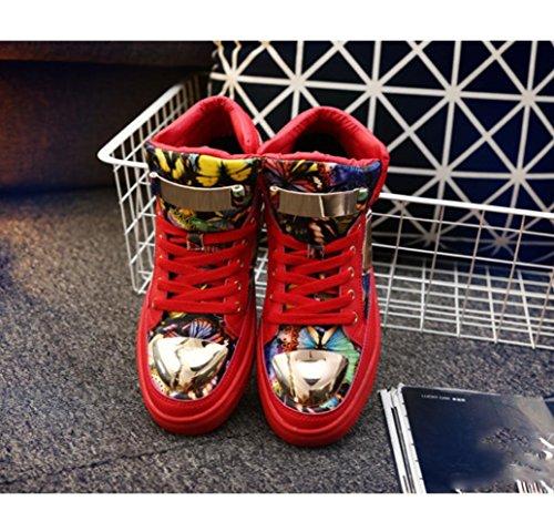 WZG chaussures de sport d'homme nouveau chaussures personnalité sports d'hiver des adolescents de marées aux étudiants d'hommes de mode de pincement métallique Red