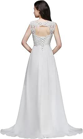 Babyonlinedress/® 2018 Damen Elegant Langes Abendkleid Meerjungfrau Spitzenkleider Brautjungferkleider mit 3//4 Arm Gr.32-46