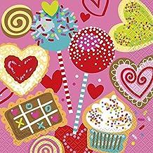 Dulce San Valentín papel servilletas, Paquete de 16