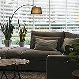 QAZQA Modern Bogenleuchte/Bogenlampe / Lampe/Leuchte Arc schwarz mit schwarzem Stoffschirm/Innenbeleuchtung / Wohnzimmer/Schlafzimmer Metall/Textil / Rund LED geeignet E27 Max. 1 x 20 Watt