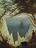 Artland Poster Kunstdruck oder Leinwand-Bild Wandbild fertig aufgespannt auf Keilrahmen Caspar David Friedrich Die Kreidefelsen von Rügen 1818 1819 Landschaften Felsen Malerei Bunt