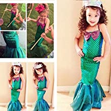 Fancy Mermaid Dress Costume for Girls Cosplay