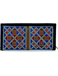 Para Ladies Classic Hand Clutch Women Embroidery Wallet, Black