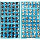Cooplay 50 Noir et 50 en métal argenté boutons-pression Boutons Carte 10 mm fermeture à attaches robe manteau titch Twitch à coudre Poupée bébé boutons en étain Craft Rapid Rivet de Poppers Outil