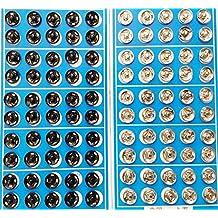 Cooplay 50X nero e 50X argento tono metallo bottoni automatici Card 10 mm Chiusura a scatto Chiusura Dress Coat Titch Twitch da cucire bambola Baby Bottoni in peltro Craft Rapid Rivetti making Poppers strumento