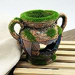 Dimart Simulation Resin Vase with Moss Aquarium Decorations Fish Tank Landscape Ornament 10