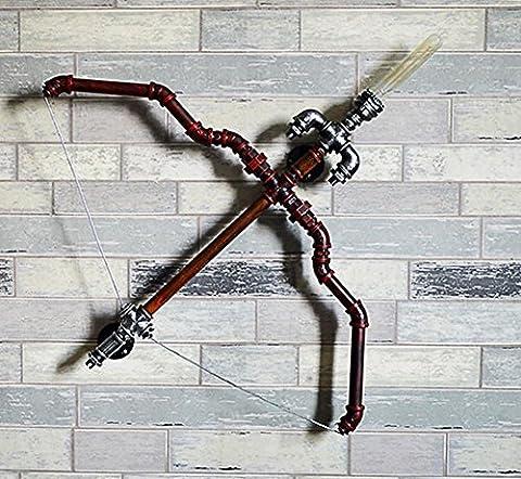 Europäische Stil E27 Rohr Licht Kreative Metall Bogen Und Pfeil Wasserrohr Wandleuchte Bar Restaurant Hotel Dekorative Lichter (9 * 86 * 74 Cm)