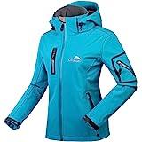 CIKRILAN Mujer Chaqueta Softshell Resistente al agua chaqueta al aire libre Ladies Deportes Camping Escalada de senderismo Co