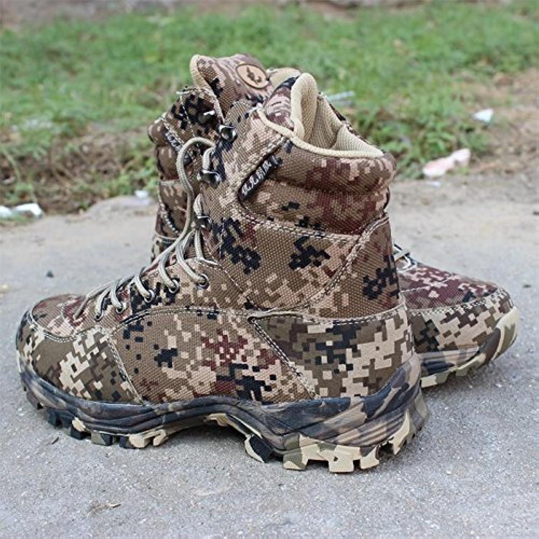 Männer outdoor / bergsteigen / camping hohe stiefel camouflage  stiefel