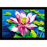 ArtzFolio Beautiful Water Lily - Small Size 12.0 inch x 8.0 inch - FRAMED PREMIUM PAPER POSTER Wall Artwork fitted with CLEAR ACRYLIC GLASS FRONT : BEAUTIFUL INTERIOR Home Décor Photo Gifts & Decorative Paintings for Bedroom, Living, Drawing, Dining Room, Office, Interior Decor, Reception, Bathroom, Outdoor, Gallery, Hotels, Bar, Lounge, Restaurants, Kitchen Area & Balcony : Digital PRINT like HAND PAINTINGS