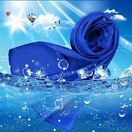 Yezala Kühlendes Handtuch, sofortige Kühlung, für Sport im Freien, (05-dunkelblau) preisvergleich
