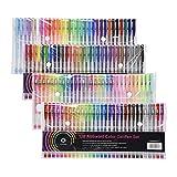 CONDA Set Di Penne Colorate In Gel A Punta Sottile Penne Gel Colorate Penne a Sfera con Inchiostro Gel Penne a Inchiostro per Disegno Bambino Adulto 120 Colori