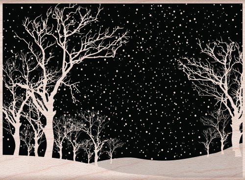 hero-arts-mounted-sellos-de-goma-225-inch-x-525-snowy-night